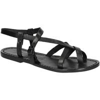 Topánky Ženy Sandále Gianluca - L'artigiano Del Cuoio 530 D NERO CUOIO nero