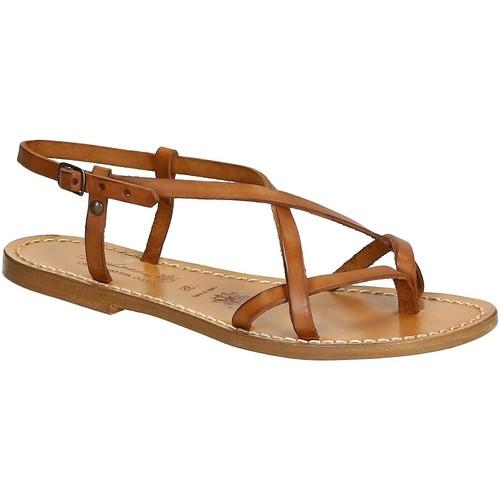 Topánky Ženy Sandále Gianluca - L'artigiano Del Cuoio 537 D CUOIO CUOIO Cuoio