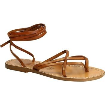 Topánky Ženy Sandále Gianluca - L'artigiano Del Cuoio 514 D CUOIO CUOIO Cuoio