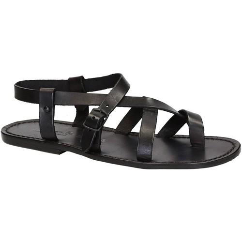Topánky Muži Sandále Gianluca - L'artigiano Del Cuoio 530 U NERO CUOIO nero
