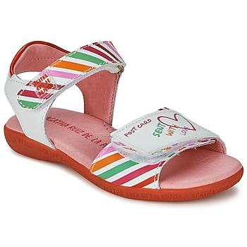 Topánky Dievčatá Sandále Agatha Ruiz de la Prada CAZOLETA Biela / Viacfarebná