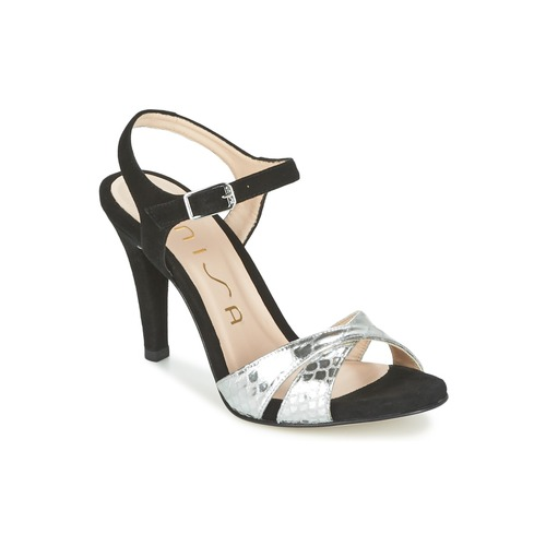 Topánky Ženy Sandále Unisa WARIAN Čierna / Strieborná