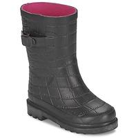 Topánky Dievčatá Čižmy do dažďa Be Only CROCO čierna