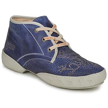 Topánky Muži Polokozačky Eject SENA Námornícka modrá-modrá-biela