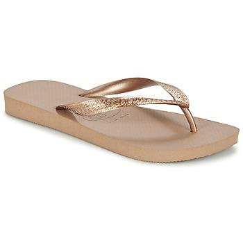 Topánky Ženy Žabky Havaianas TOP METALLIC Ružová / Zlatá