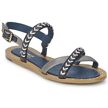 Topánky Ženy Sandále Schmoove MEMORY LINK Strieborná / Námornícka modrá