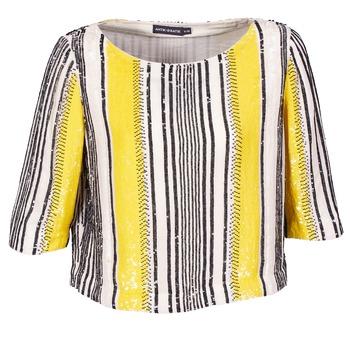 Oblečenie Ženy Blúzky Antik Batik ZABOU Žltá / Biela / Čierna
