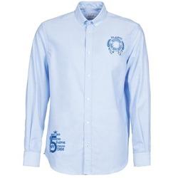 Oblečenie Muži Košele s dlhým rukávom Serge Blanco ANTONIO Modrá