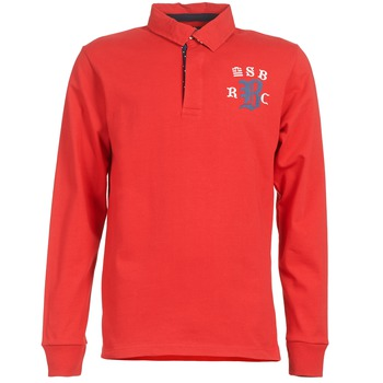 Oblečenie Muži Polokošele s dlhým rukávom Serge Blanco MATO Červená
