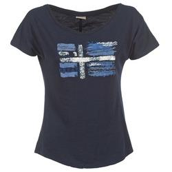 Oblečenie Ženy Tričká s krátkym rukávom Napapijri SINK Námornícka modrá