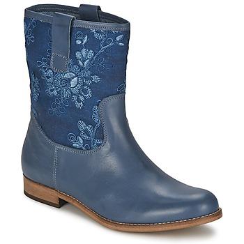 Topánky Ženy Polokozačky Alba Moda FALINA Modrá