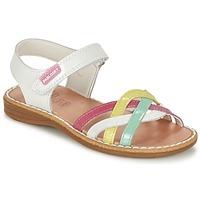 Topánky Dievčatá Sandále Pablosky ATINA Biela / Viacfarebná
