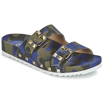 Topánky Ženy Šľapky Ash UBUD Modrá / Maskáčový vzor