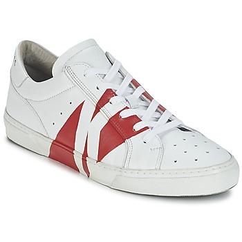 Topánky Muži Nízke tenisky Bikkembergs RUBB-ER 668 LEATHER Biela / Červená