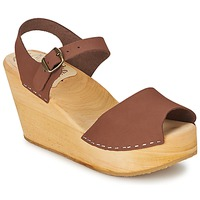Topánky Ženy Sandále Le comptoir scandinave  Hnedá