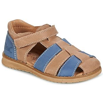 Topánky Chlapci Sandále Citrouille et Compagnie FRINOUI Hnedá / Modrá