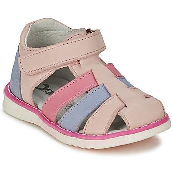 Topánky Dievčatá Sandále Citrouille et Compagnie FRINOUI Ružová / Modrá / Clear / Fuksiová
