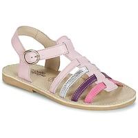Topánky Dievčatá Sandále Citrouille et Compagnie JASMA Ružová / Fialová