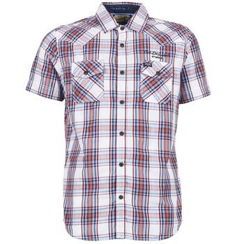 Oblečenie Muži Košele s krátkym rukávom Petrol Industries SHIRT SS Biela / červená
