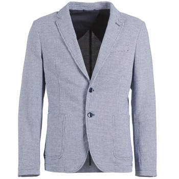 Oblečenie Muži Saká a blejzre Benetton CHEVOTU Modrá