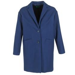 Oblečenie Ženy Kabáty Benetton AGRETE Námornícka modrá