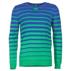 Oblečenie Muži Svetre Benetton FODIME Námornícka modrá / Zelená