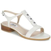 Topánky Ženy Sandále Clarks BLISS SHIMMER Biela