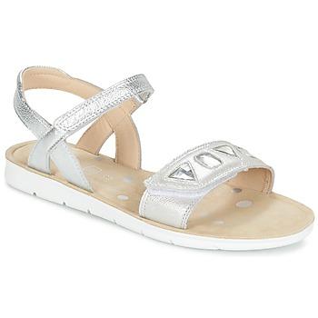 Topánky Dievčatá Sandále Clarks MIMOMAGIC JUNIOR Strieborná