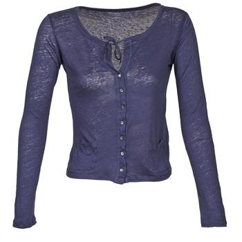 Oblečenie Ženy Cardigany Majestic BATHILDE Modrá