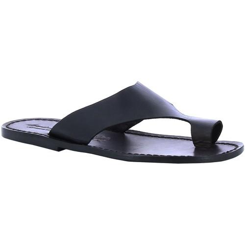 Topánky Muži športové šľapky Gianluca - L'artigiano Del Cuoio 521 U NERO CUOIO nero