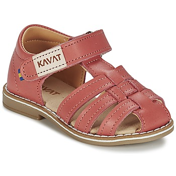 Topánky Dievčatá Sandále Kavat FORSVIK Koralová