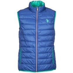 Oblečenie Muži Páperové bundy U.S Polo Assn. USPA LT PADDED VEST Modrá