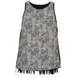 Oblečenie Ženy Tielka a tričká bez rukávov Color Block PINECREST Šedá / Čierna / Biela