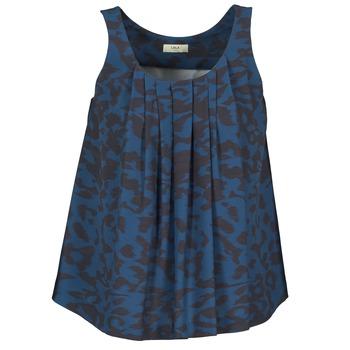 Oblečenie Ženy Tielka a tričká bez rukávov Lola CUBA Modrá / Čierna