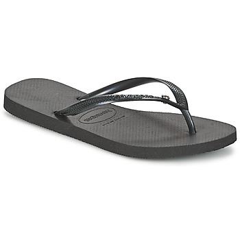 Topánky Ženy Žabky Havaianas SLIM CRYSTAL GLAMOUR SWAROVSKI Čierna