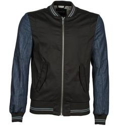 Oblečenie Muži Bundy  Sisley 2ID2533A9 Čierna / Modrá