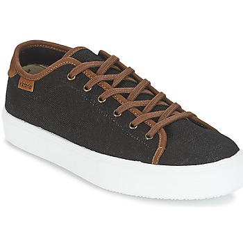 Topánky Muži Nízke tenisky Victoria BASKET LINO DETALLE MARRON Čierna / Hnedá