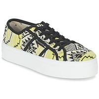 Topánky Ženy Nízke tenisky Victoria BASKET ETNICO PLATAFORMA čierna / žltá