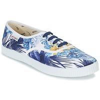 Topánky Ženy Nízke tenisky Victoria INGLES FLORES Y CORAZONES Biela / Modrá