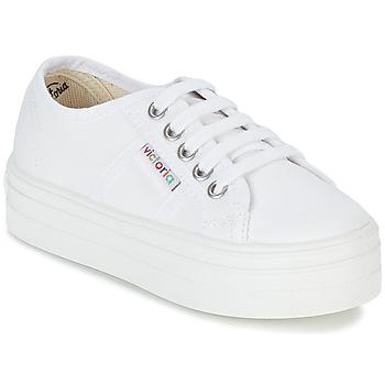 Topánky Dievčatá Nízke tenisky Victoria BASKET LONA PLATAFORMA KIDS Biela