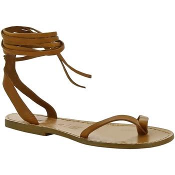 Topánky Ženy Sandále Gianluca - L'artigiano Del Cuoio 534 D CUOIO CUOIO Cuoio