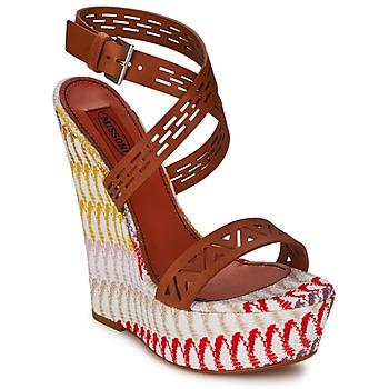 Topánky Ženy Sandále Missoni XM015 Hnedá / Viacfarebná