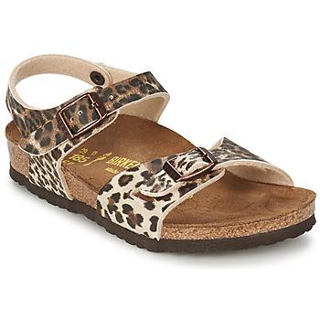 Topánky Dievčatá Sandále Birkenstock RIO Leopard / Hnedá