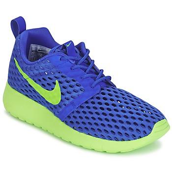 Topánky Chlapci Nízke tenisky Nike ROSHE ONE FLIGHT WEIGHT BREATHE JUNIOR Modrá / Zelená