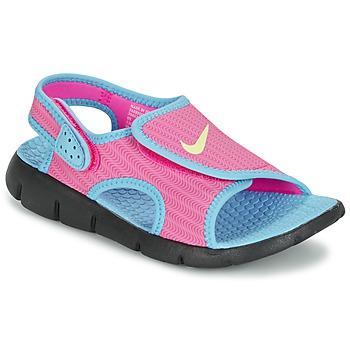 Topánky Dievčatá Sandále Nike SUNRAY ADJUST 4 Ružová / Modrá