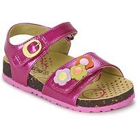 Topánky Dievčatá Sandále Kickers MAGIFLOWER Fuksiová