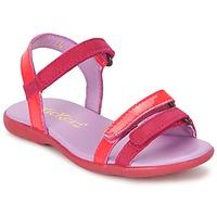 Topánky Dievčatá Sandále Kickers ARCENCIEL Fuksiová / Ružová / Fluorescent