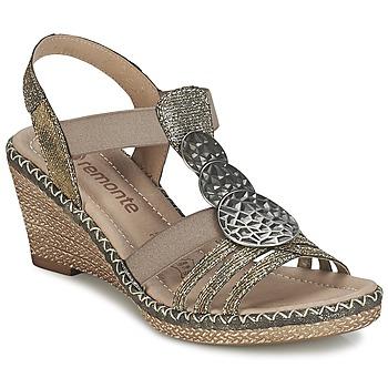 Topánky Ženy Sandále Remonte Dorndorf TINACE Zlatá / Strieborná