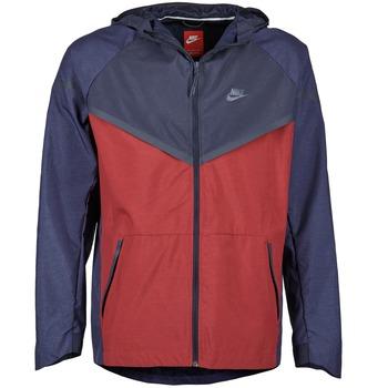 Oblečenie Muži Vetrovky a bundy Windstopper Nike TECH WINDRUNNER Červená / Námornícka modrá / Šedá