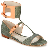 Topánky Ženy Sandále John Galliano A65970 Zelená / Béžová